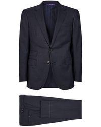 Ralph Lauren Purple Label Houndstooth Two-piece Suit - Blue