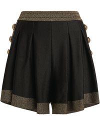 Balmain - Metallic-trim Shorts - Lyst