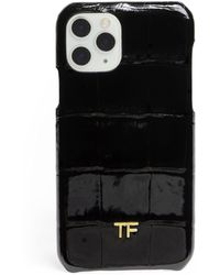 Tom Ford Alligator Iphone 11 Case - Black