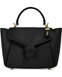 COACH Leather Courier Carryall Bag - Black