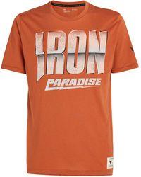 Under Armour Project Rock Iron Paradise T-shirt - Orange