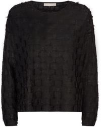 Eileen Fisher - Fringed Squares Jumper - Lyst