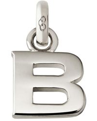 Links of London - Sterling Silver Letter B Charm - Lyst
