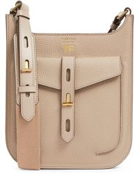Tom Ford Small Leather T Twist Cross-body Bag - Brown