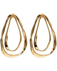 Alexander McQueen Double Layer Earrings - Metallic