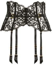 Aubade La Reine De La Nuit Suspender Belt - Black