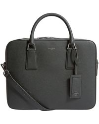 Sandro Leather Briefcase - Green