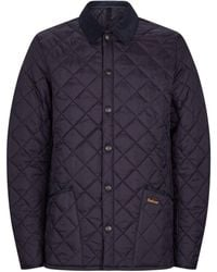 Barbour Mens Blue Heritage Liddesdale Quilted Jacket