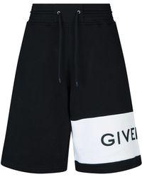 Givenchy Logo Sweatshorts - Black