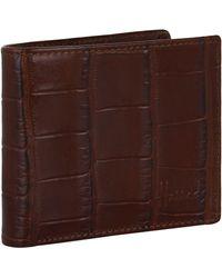 Harrods Crocodile-embossed Leather Bilfold Wallet - Brown