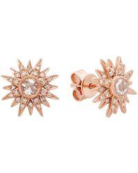 Kenza Lee - Sunburst Stud Earrings - Lyst