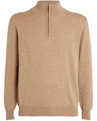 Johnstons of Elgin Cashmere Zip Sweatshirt - Green