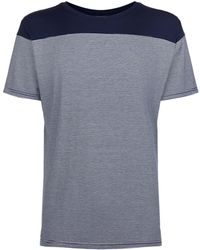 Homebody - Contrasting Stripe Lounge T-shirt - Lyst