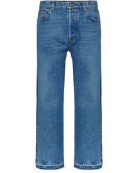 Valentino Contrast-panel Jeans - Blue