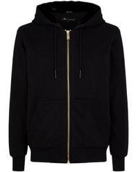 Moose Knuckles Gold Bunny Zip-up Sweatshirt - Black