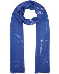 Akris - Silk-cashmere Blueprint Scarf - Lyst
