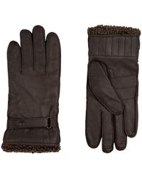 Barbour - Leather Gloves - Lyst