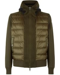 Moncler Hooded Cardigan - Green