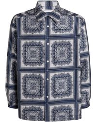 Children of the discordance Scarf Print Shirt - Blue