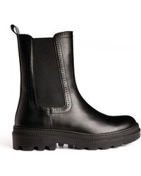 Claudie Pierlot Leather Chelsea Boots - Black