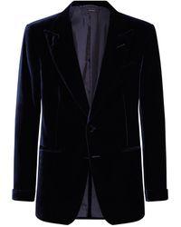 Tom Ford Velvet Jacket - Blue
