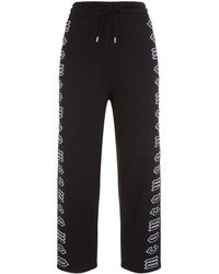 McQ - Cropped Logo Joggers - Lyst
