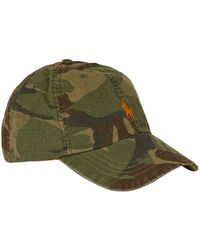 Ralph Lauren Cotton Camouflage Cap - Green