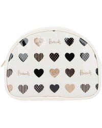 Harrods Glitter Hearts Cosmetic Bag - Multicolour