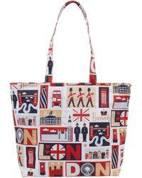 Harrods Iconic London Shoulder Bag - Red