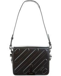 2f20eb71445f Off-White C O Virgil Abloh Striped Binder Clip Bag in Black - Lyst
