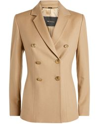 Kiton Cashmere Double-breasted Jacket - Natural