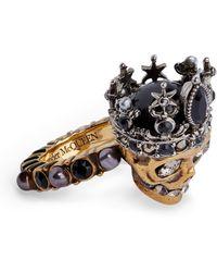 Alexander McQueen Queen Skull Ring - Multicolor