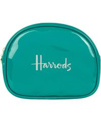 Harrods - Logo Half-moon Cosmetic Bag, Blue - Lyst