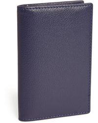 Ettinger Leather Capra Card Case - Blue