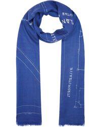 Akris Silk-cashmere Blueprint Scarf