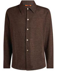 Barena Wool-blend Overshirt - Brown