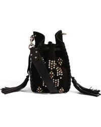 Isabel Marant Suede Embellished Radja Cross-body Bag - Black
