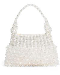 Shrimps Beaded Quinn Handbag - White