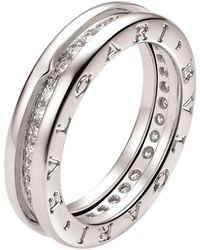 BVLGARI White Gold And Diamond B. Zero1 Ring - Metallic