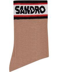 Sandro - Logo Socks - Lyst