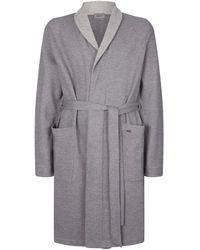 Hanro Textured Belted Robe - Gray