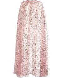 Monique Lhuillier Embellished Cape - Pink
