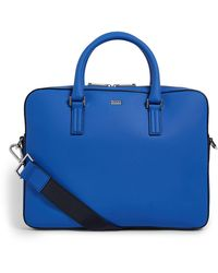 BOSS Leather Briefcase - Blue