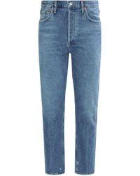 Agolde Jamie Straight Jeans - Blue