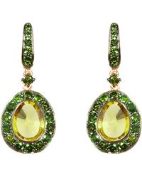 Annoushka - Dusty Diamonds Olive Quartz Earrings - Lyst