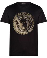 b9ed708e Lyst - Versace Studded 'medusa Head' T-shirt in Black for Men