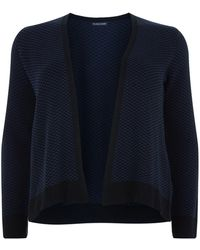Eileen Fisher - Short Knitted Open Front Cardigan - Lyst