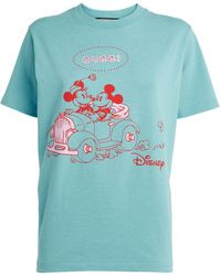 Gucci - Mickey Mouse-print Cotton T-shirt - Lyst