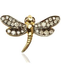 Annoushka Love Diamonds Dragonfly Right Earring - Metallic