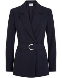 Claudie Pierlot Belted Tailored Blazer - Blue